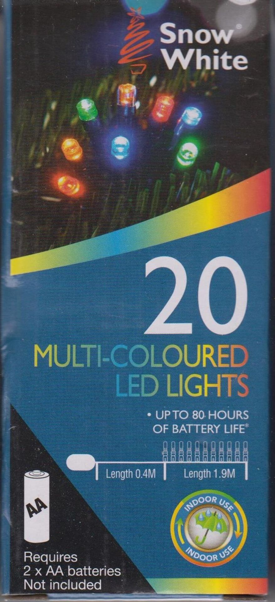 Lot 52595 - V Brand New A Lot Of Two 20 Multi coloured LED Lights - Battery Operated