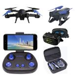 V Brand New MiDrone HD WiFi Drone With Intergrated Full HD Camera PLUS VR Kit (Goggles & Case) -