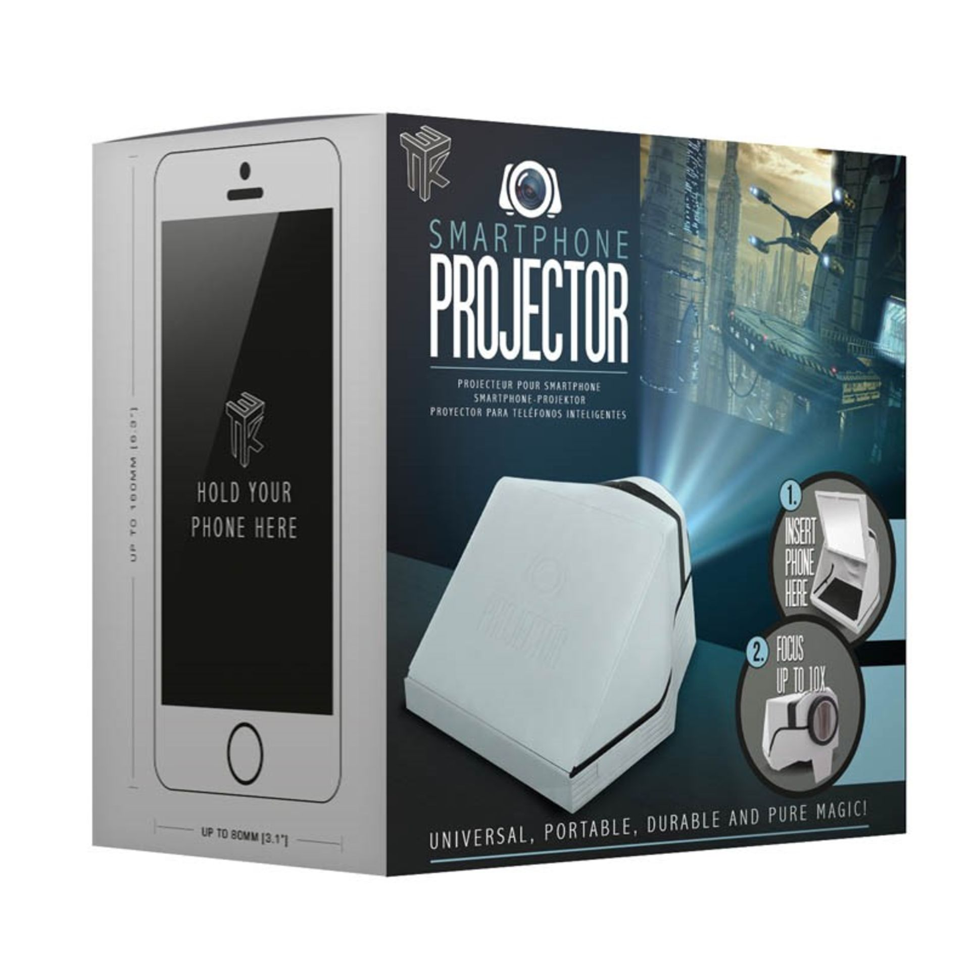 """V Brand New Smartphone Projector - Projects 40"""" Screen - Focus Up To 10x - ISP £19.99 (Paladone) - Image 2 of 2"""