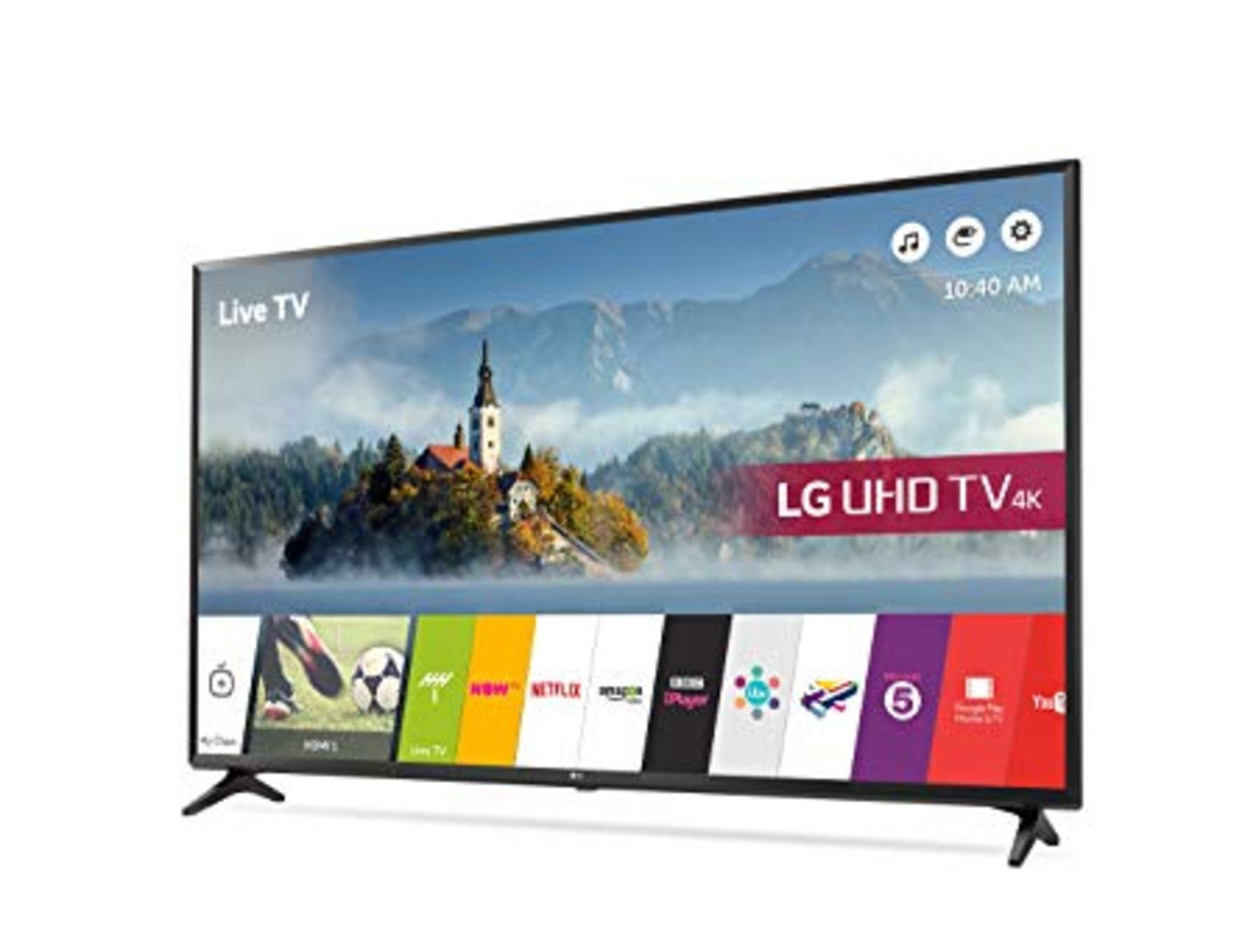 V Grade A LG 49 Inch ACTIVE HDR 4K ULTRA HD LED SMART TV WITH FREEVIEW HD & WEBOS 3.0 & WIFI