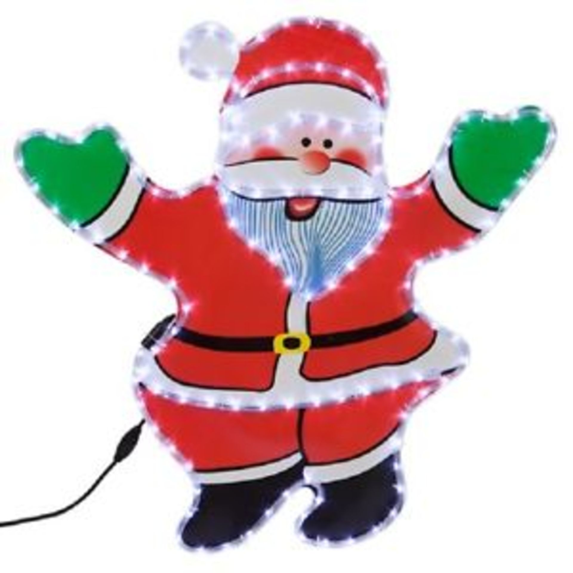 Lot 18042 - V Brand New Light Up 85cm Santa Christmas Silhouette With Stand
