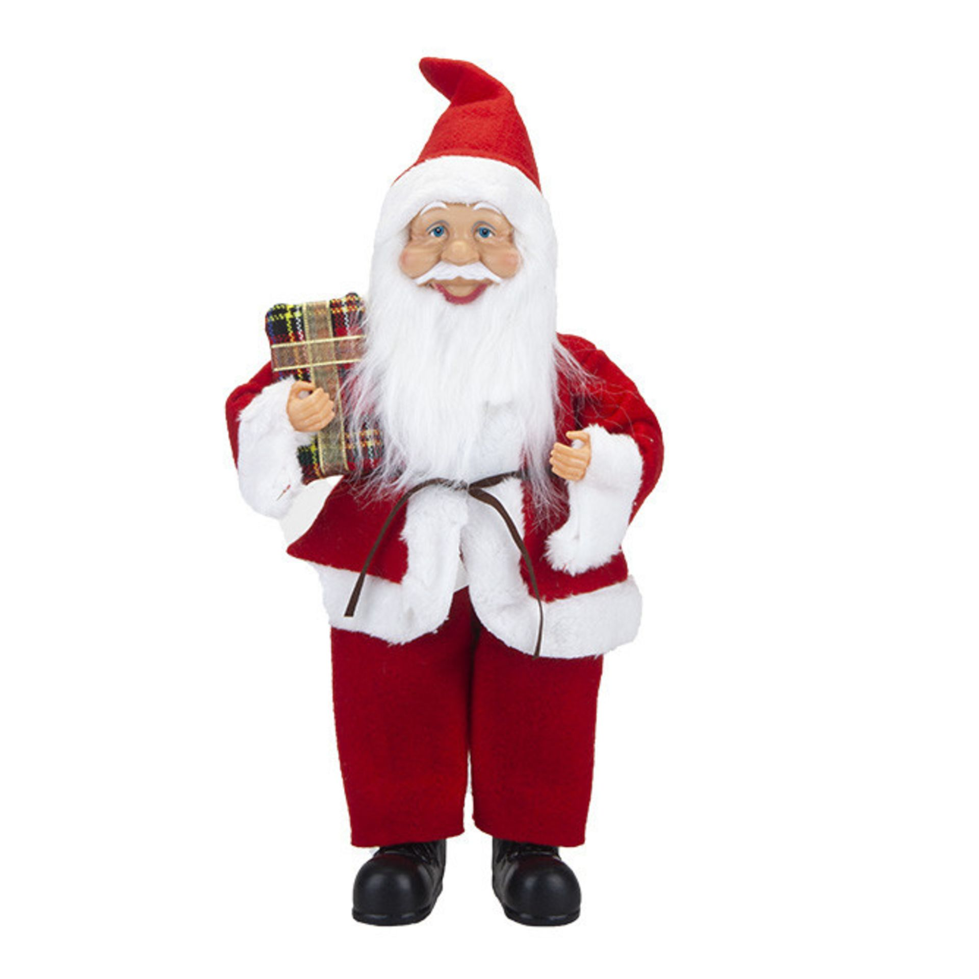 Lot 18047 - V Brand New 38cm Standing Santa Decoration With Hang Tag
