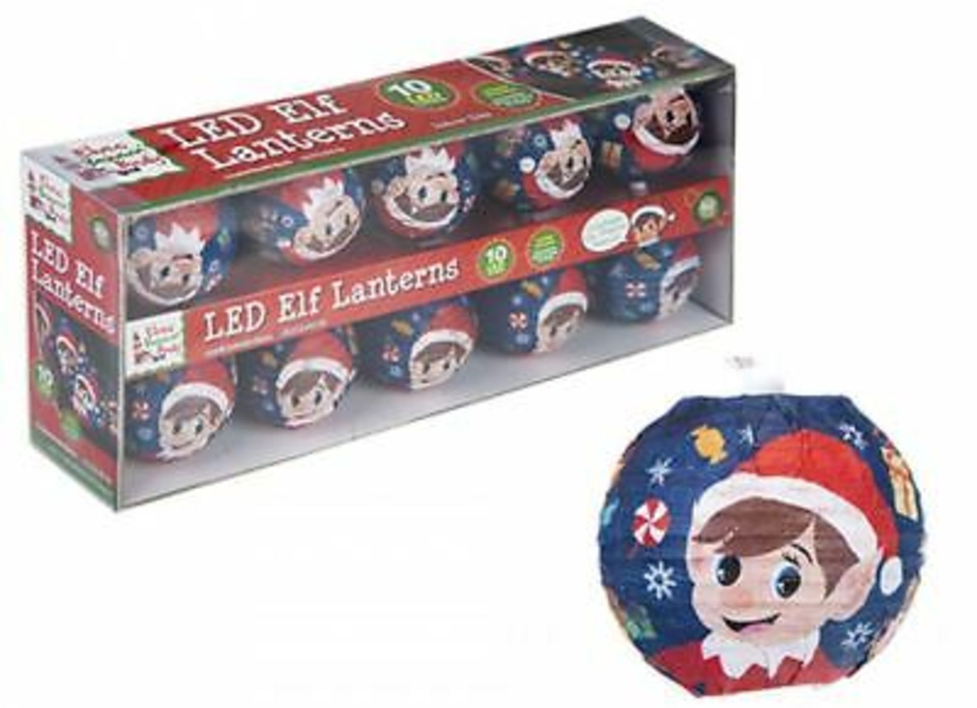 Lot 18078 - V Brand New 10 LED Elf Lantern Christmas Lights