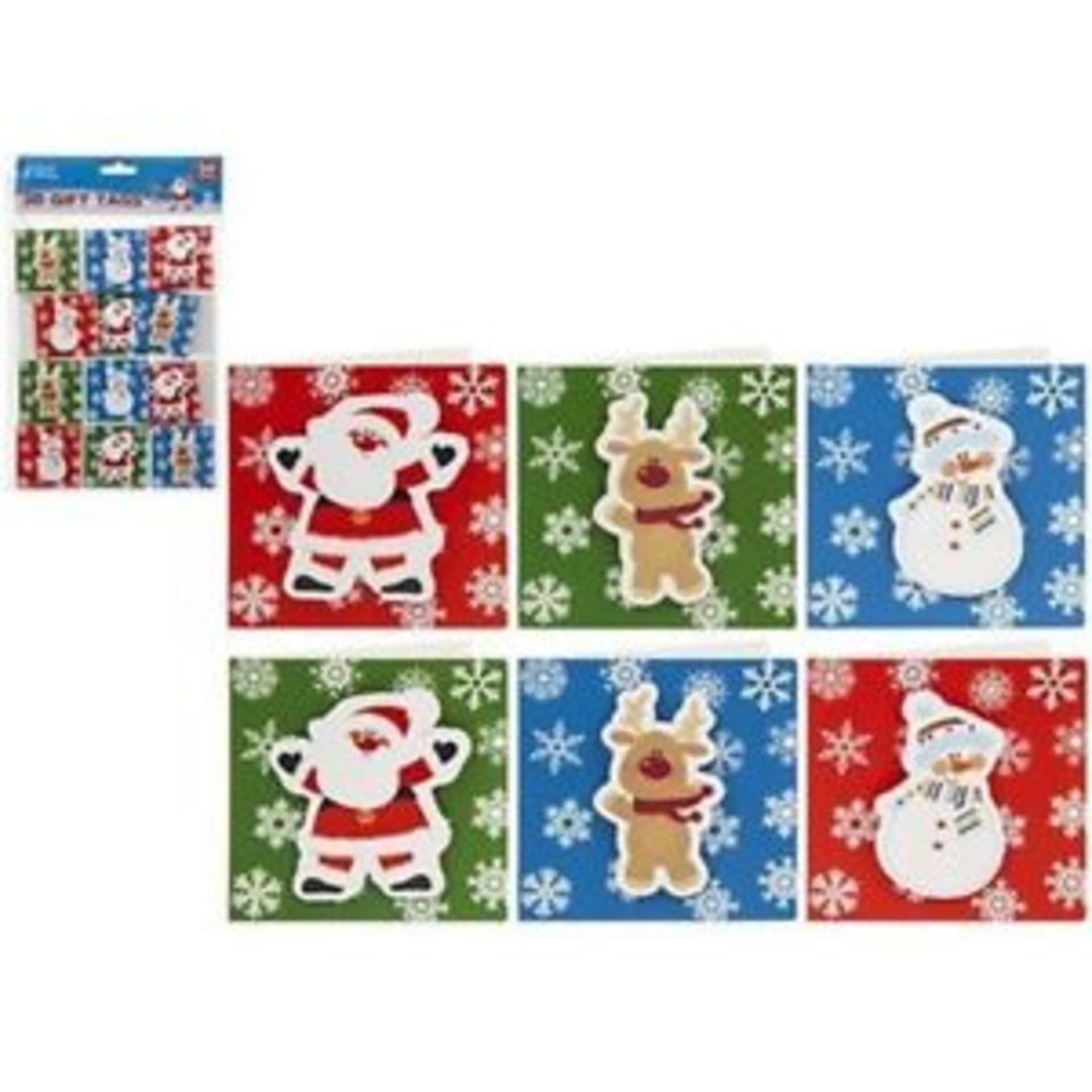 Lot 18213 - V Brand New Three Packs Of 24 3D Gift Tags - Four Assorted Sets