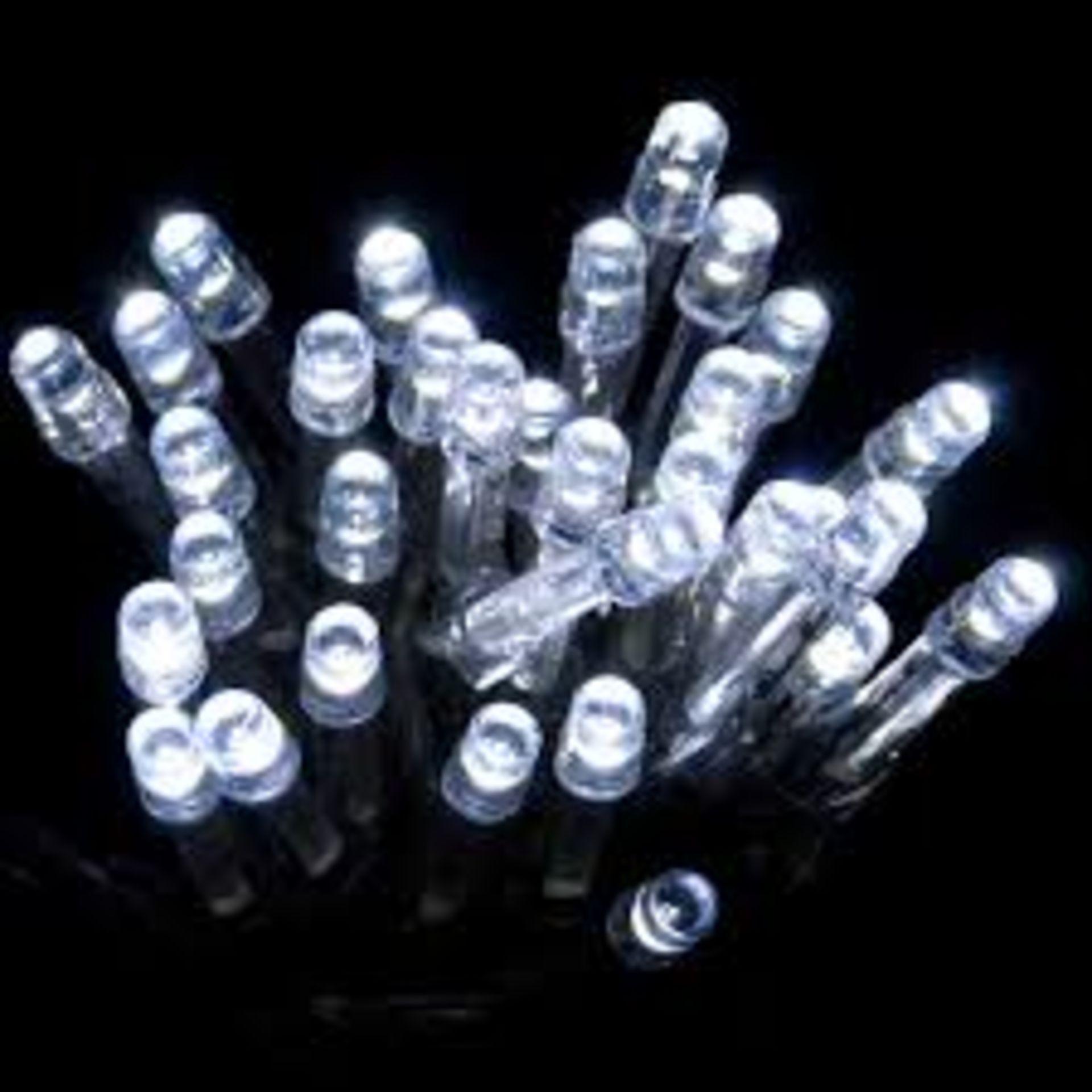 Lot 18147 - V Brand New Two Packs Of Twenty LED Bright White Christmas Lights Total Length 2.3m Each