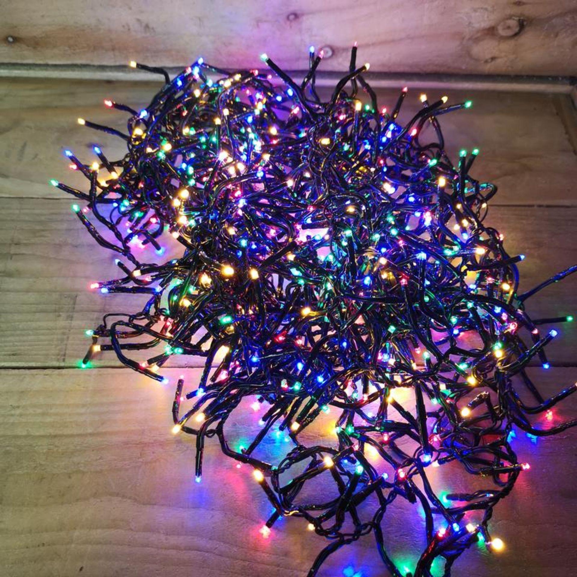 Lot 18068 - V Brand New 800 Multi Coloured LED Multi Function Christmas Lights