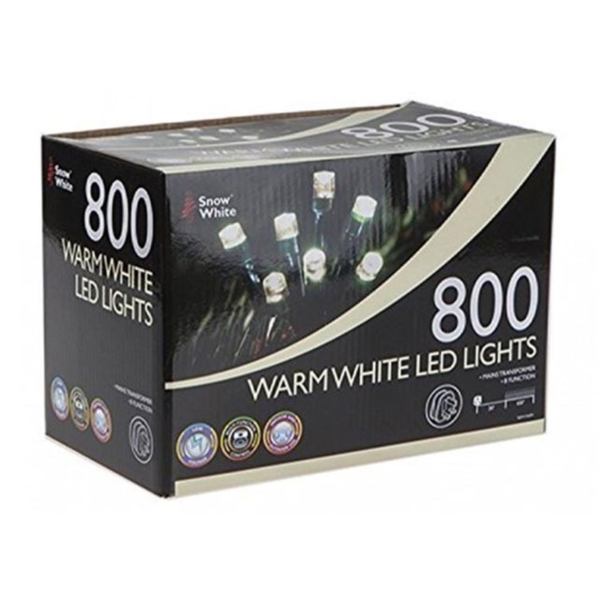 Lot 18034 - V Brand New 800 Warm White LED Multi Function Christmas Lights