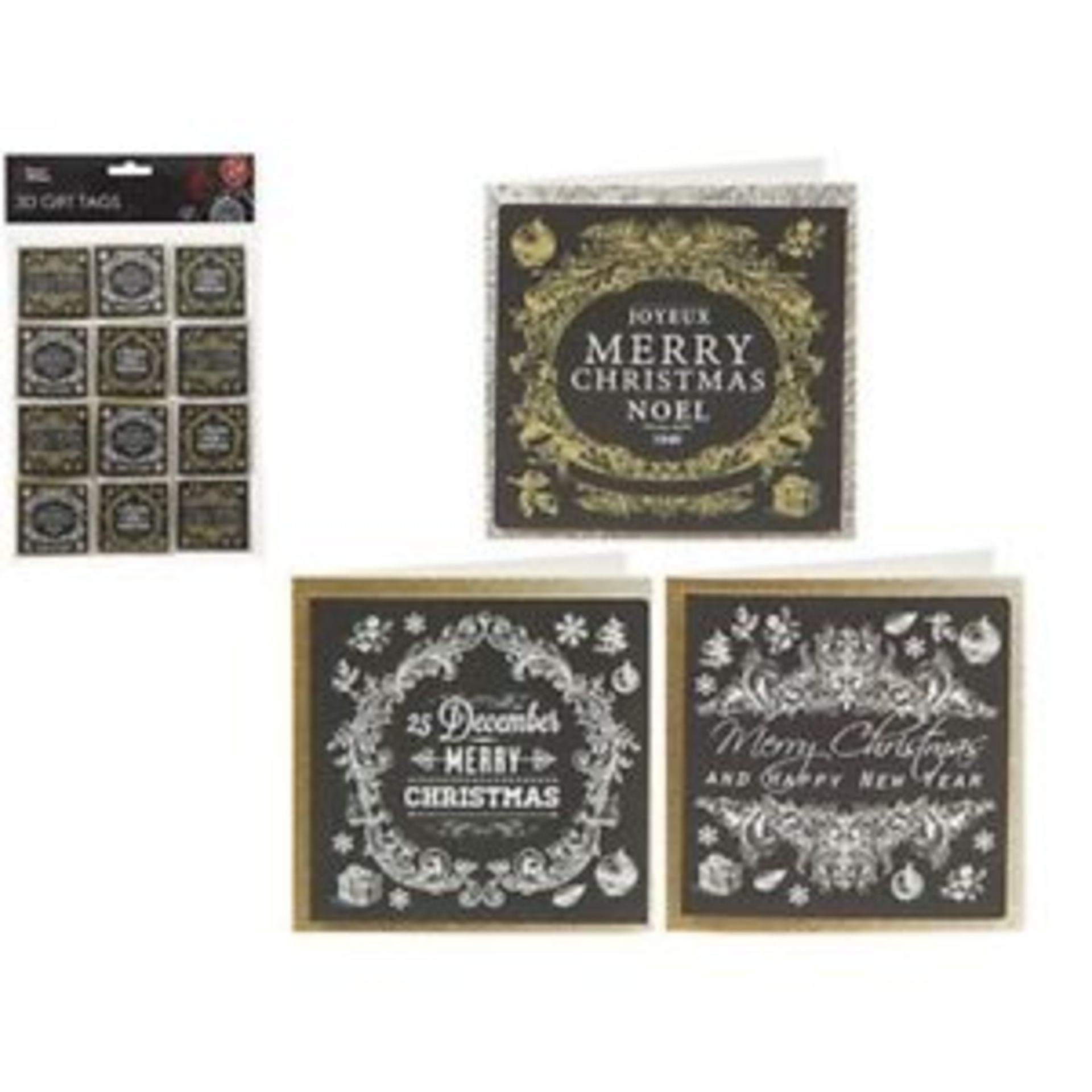 Lot 18212 - V Brand New Three Packs Of 24 3D Gift Tags - Four Assorted Styles