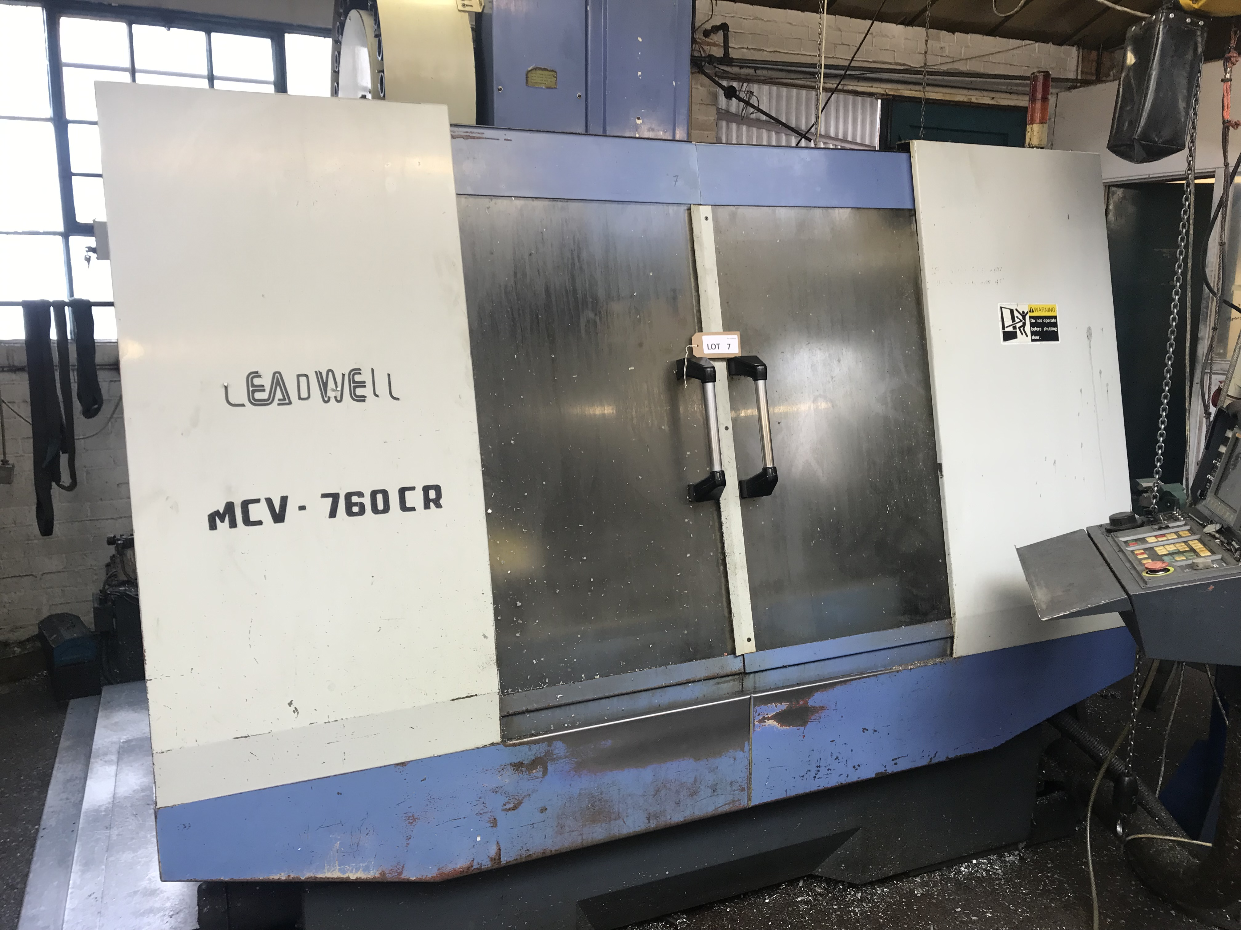 Leadwell MCV-760 vertical machining centre, serial no