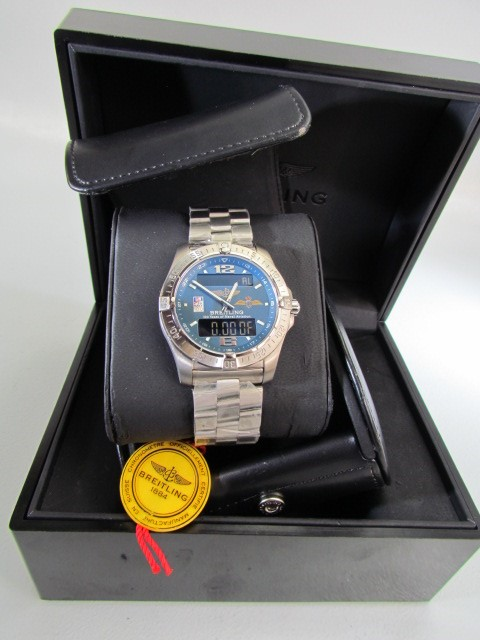 """Lot 27 - RARE Limited Addition Aerospace """"FLY NAVY 100 YEARS OF NAVAL AVIATION"""" Breitling wristwatch Number"""