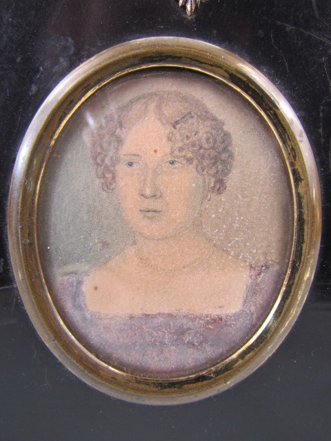 Lot 35 - Miniature watercolour of Susanah Dela James. Painted by Frederick Walter Lane.