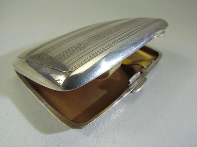 Lot 8 - Hallmarked Birmingham Silver cigarette case