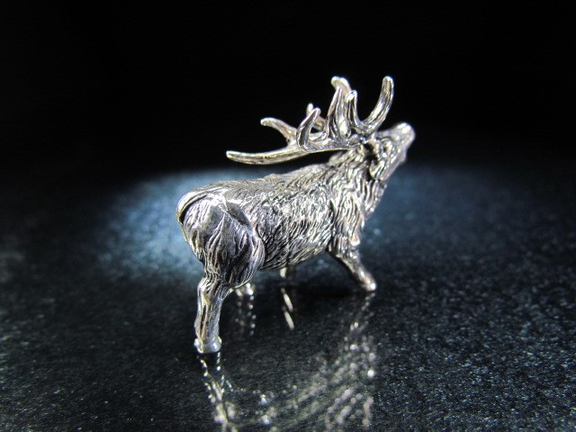 Lot 18 - Sterling silver model of a stag