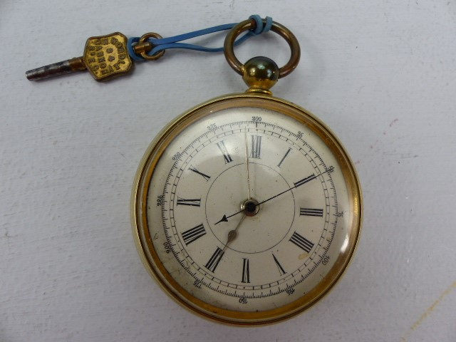 Lot 25 - Gold plated Pocket watch / stopwatch. Marked W Wordley, Cannon Street, London. Serial no.62981, with