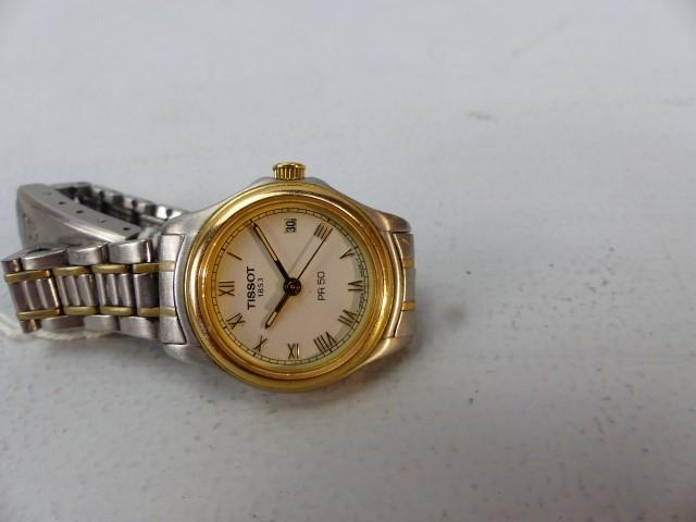 Lot 41 - Ladies Tissot PR50 wristwatch with stainless steel strap