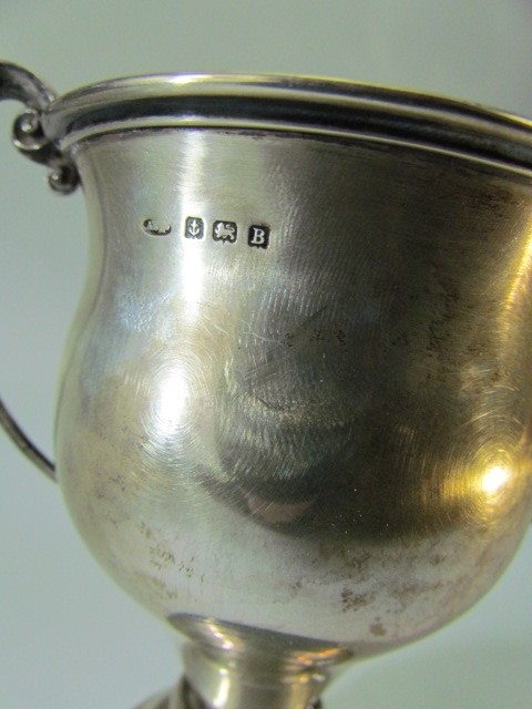 Lot 9 - Silver Trophy hallmarked Birmingham and engraved (silver weight 191g)