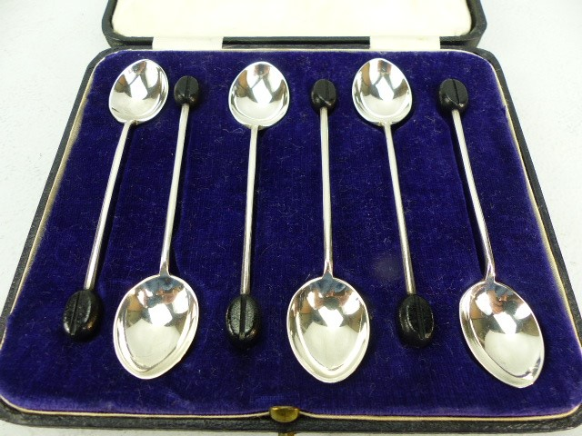 Lot 15 - Boxed Hallmarked six coffee spoons Sheffield maker W&H