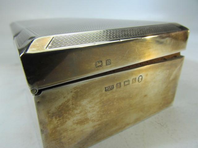 Lot 13 - Silver Birmingham Hallmarked Cigarette Box by Mappin & Webb