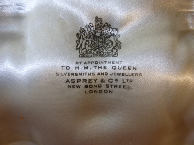 Lot 16 - Asprey & Co Ltd New Bond Street London cased cruet set each piece hallmarked