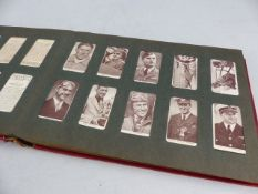Album of Cigarette cards to include collections of Garden Hints (1-50); Kings of speed; Railway