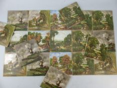 Set of tiles depicting countryside scenes (sold on behalf of the Devon Air Ambulance)