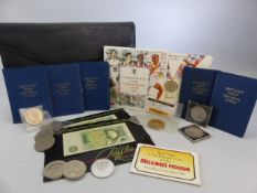 Collection of collectable coins and notes to English One Pound note and Commonwealth games