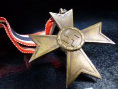 Nazi Medal with Swastika on Ribbon marked 1939