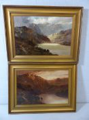 STANLEY PENN (AKA FRANCIS E JAMIESON (1895-1950)) Pair of Oil Paintings of Scottish Mountains and