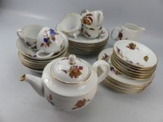 A quantity of Royal Worcester Evesham pattern wares including teapot, plates, cups etc