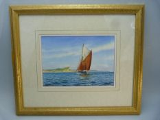 Framed watercolour 'Weymouth in time for dinner' by DAVID WILLIS. Signed bottom left. Approx. 25.5cm