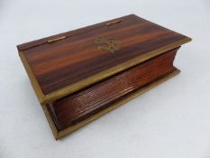 Navel Wooden cigarette box depicting an anchor to the lid