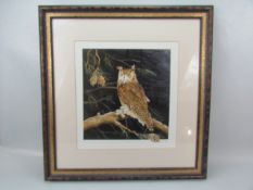 """Limited Edition 35/250 by Neil Patey """"Eagle Owl"""""""