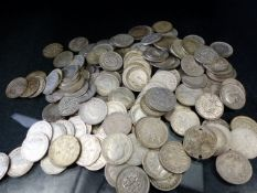 Coins: Silver coinage mostly 19th & 20th century (total weight approx 265g)