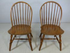 A pair of spindle-backed chairs