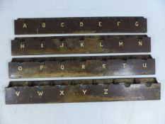 Full set of alphebetised letter racks reclaimed from a local hotel