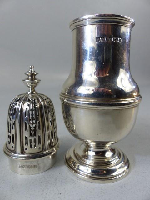 Lot 3 - Silver hallmarked sugar shaker by Brook & Son