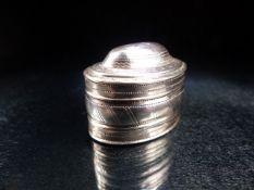George III Hallmarked Silver Nutmeg Grater, Birmingham 1801 by maker Joseph Taylor