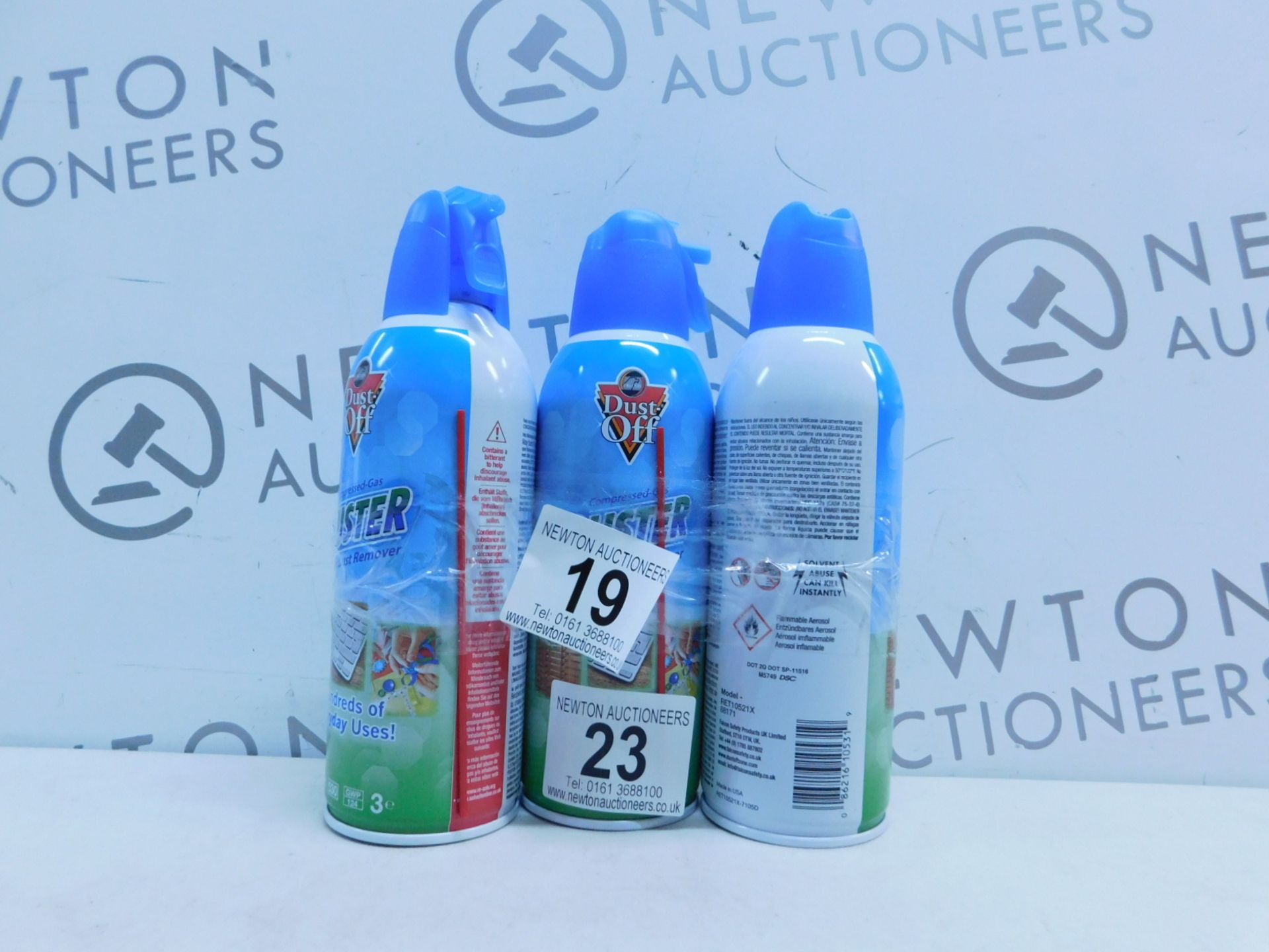 Lot 23 - 1 SET OF 3 DUST OFF DUSTER SPRAY CANS RRP £14.99