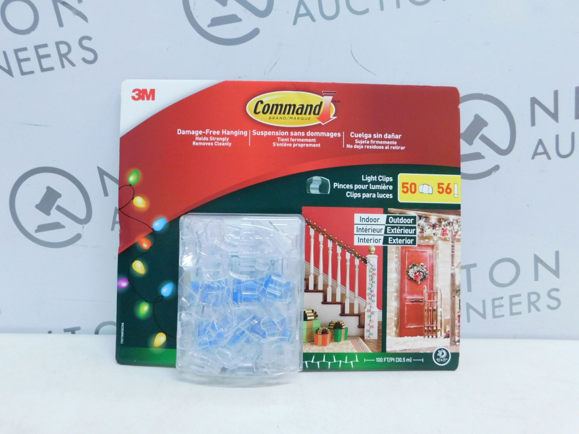 Lot 60 - 1 BRAND NEW PACK OF COMMAND DAMAGE-FREE 50 HANGING LIGHT CLIPS RRP £12.99