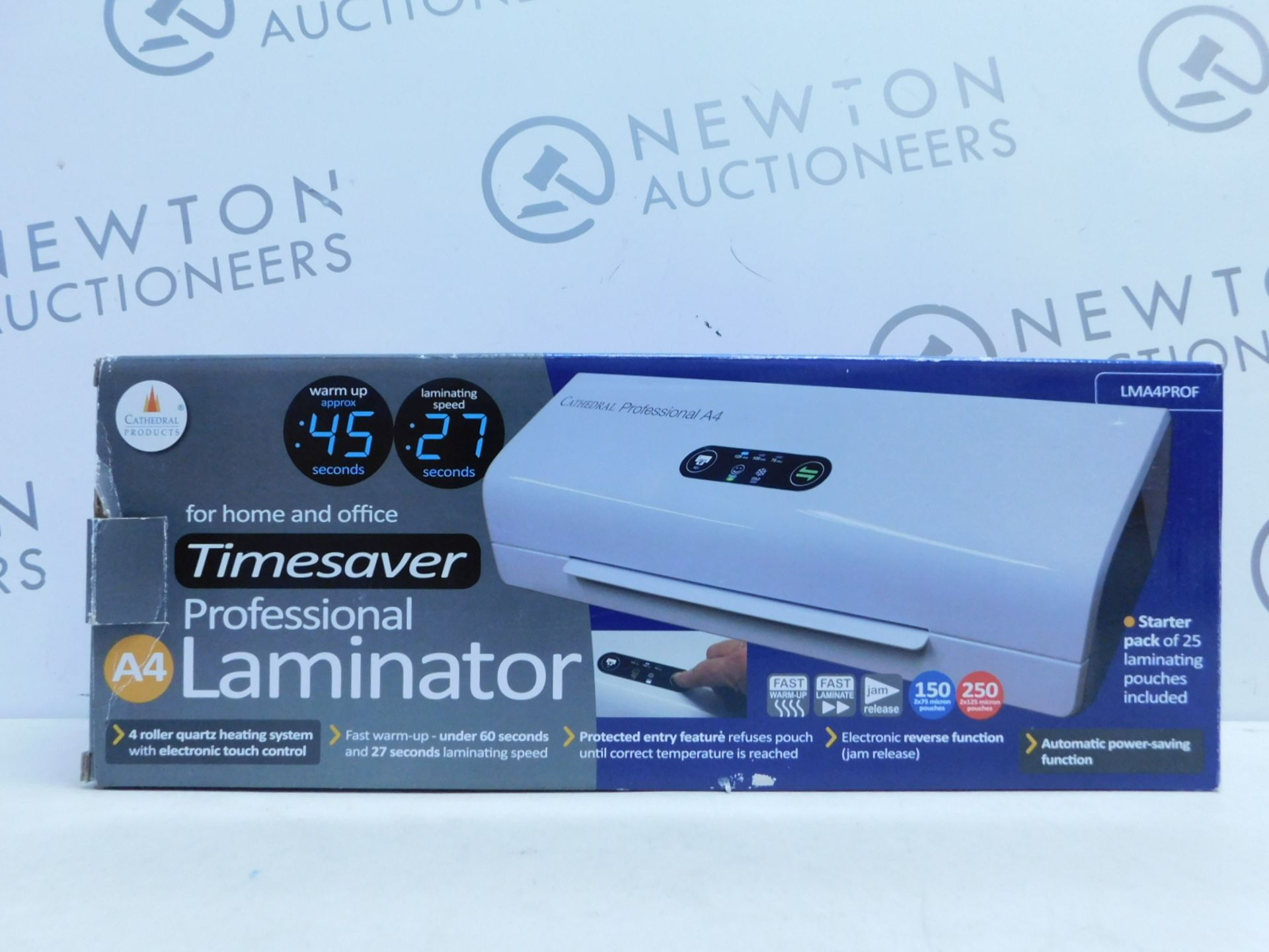 Lot 37 - 1 BOXED MONOLITH FAST WARM-UP A4 LAMINATOR RRP £32.99