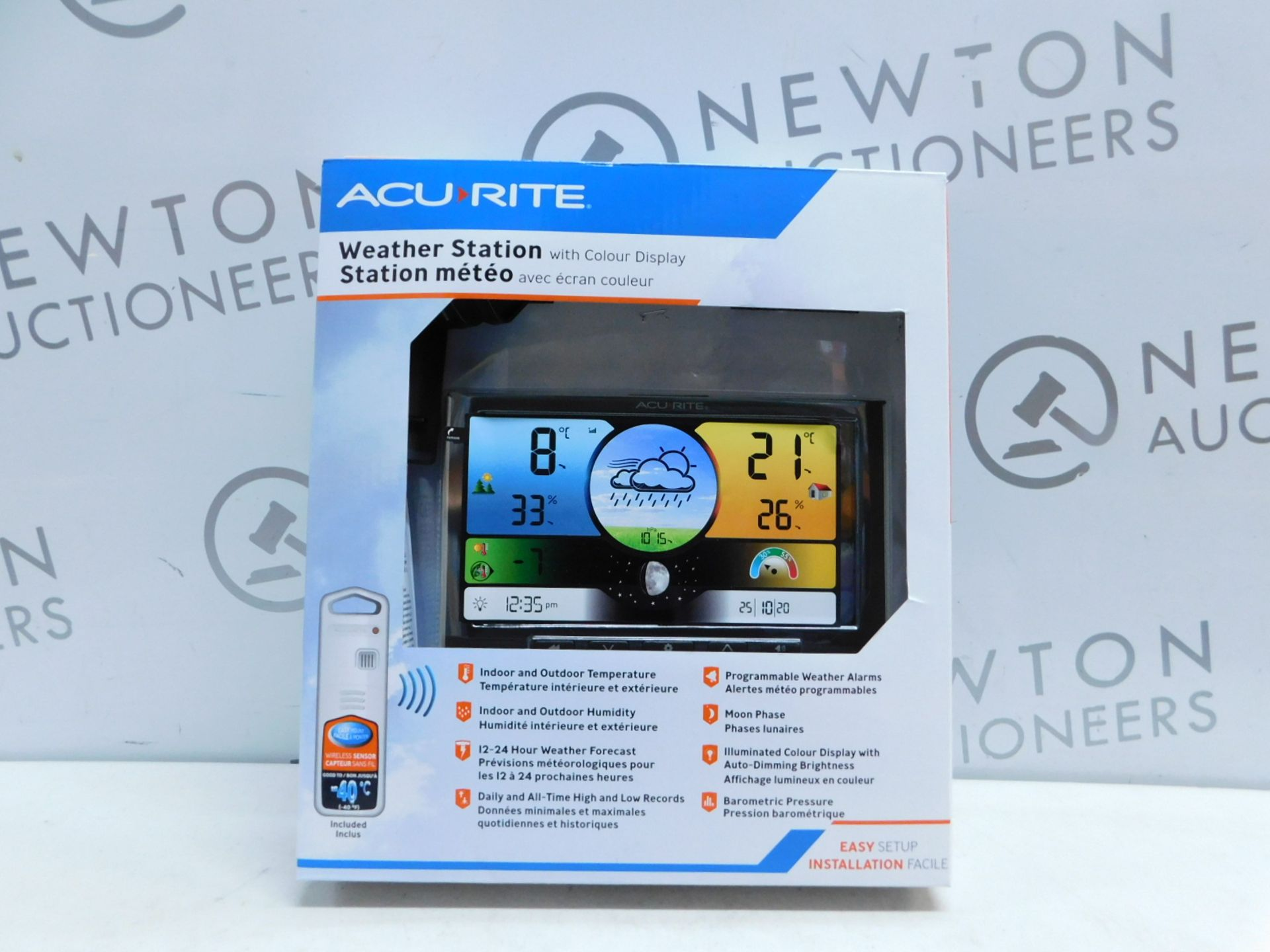 Lot 39 - 1 BOXED ACURITE WEATHER STATION WITH COLOUR DISPLAY RRP £49.99