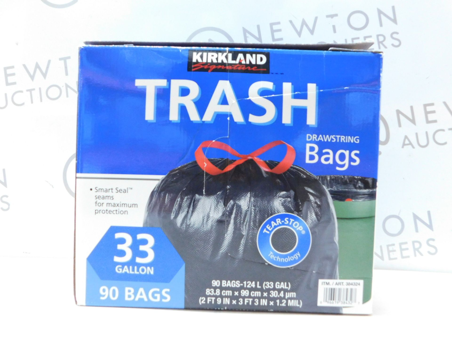 Lot 240 - 1 BOX OF KIRKLAND SIGNATURE DRAWSTRING KITCHEN BAGS (APPROX 200) RRP £39.99