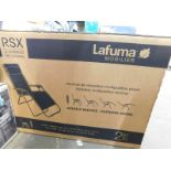 1 BOXED LAFUMA RELAX RSX FOLDABLE MULTIPOSITION RECLINER RRP £179.99