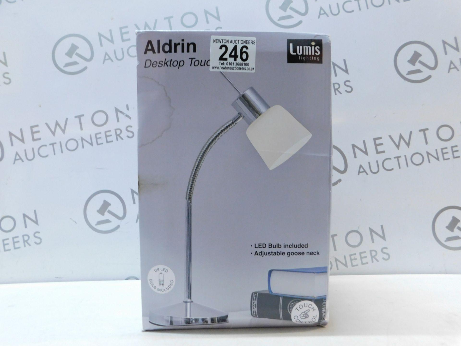Lot 246 - 1 BOXED LUMIS LIGHTING ALDRIN DESKTOP TOUCH LIGHT RRP £29.99