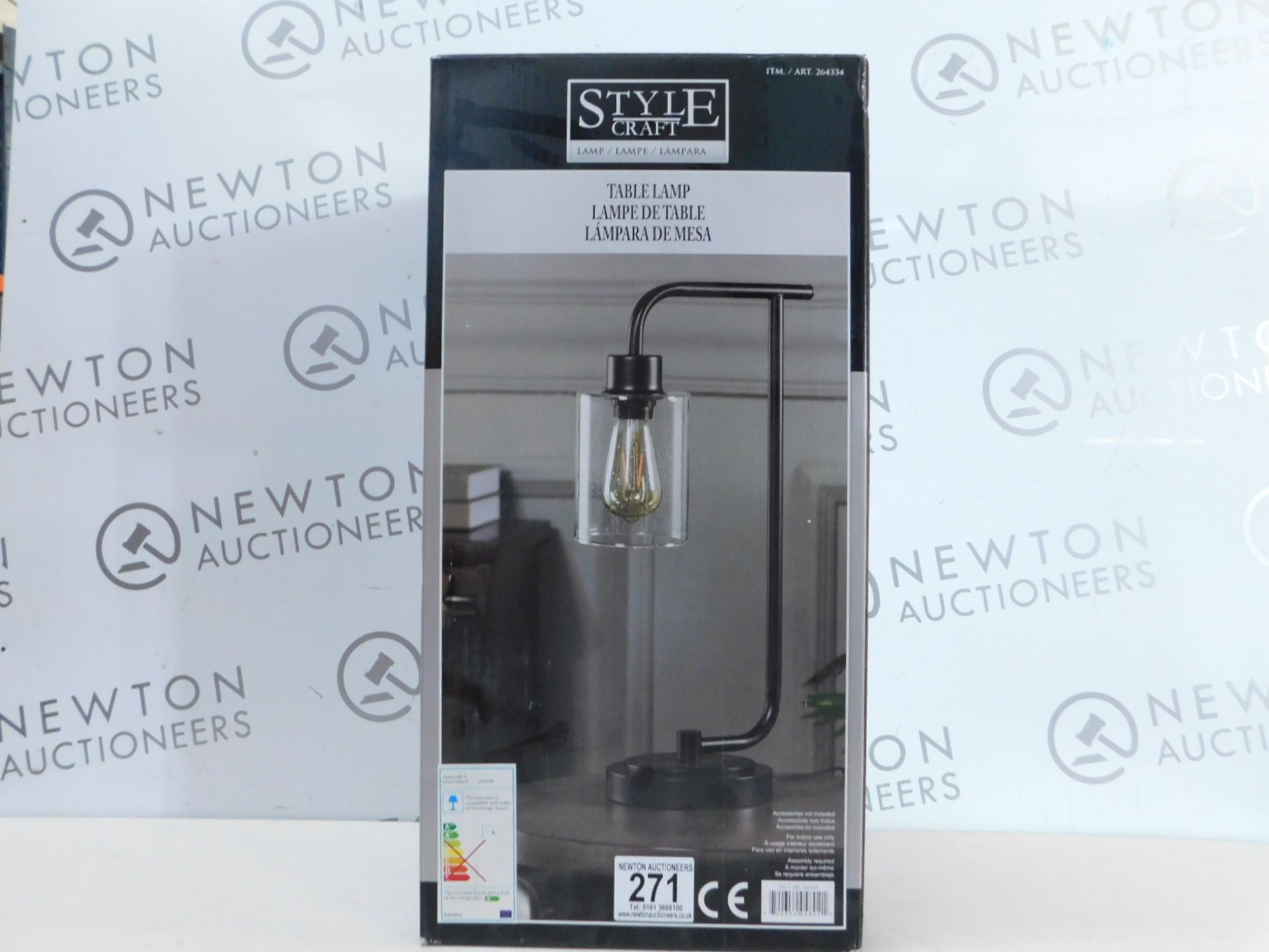 Lot 271 - 1 BOXED STYLECRAFT LUCAS TABLE LAMP RRP £49.99