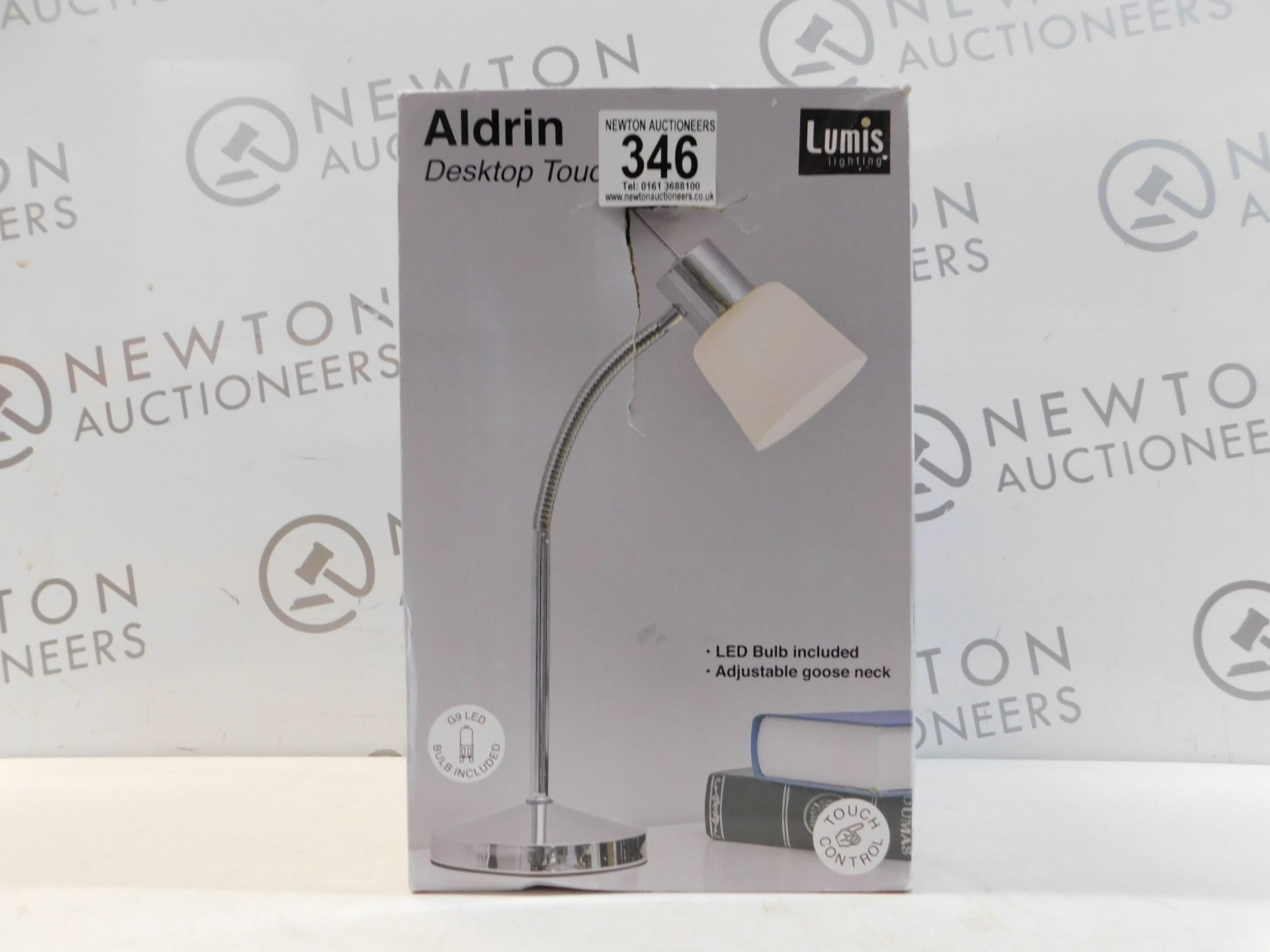 Lot 346 - 1 BOXED LUMIS LIGHTING ALDRIN DESKTOP TOUCH LIGHT RRP £29.99