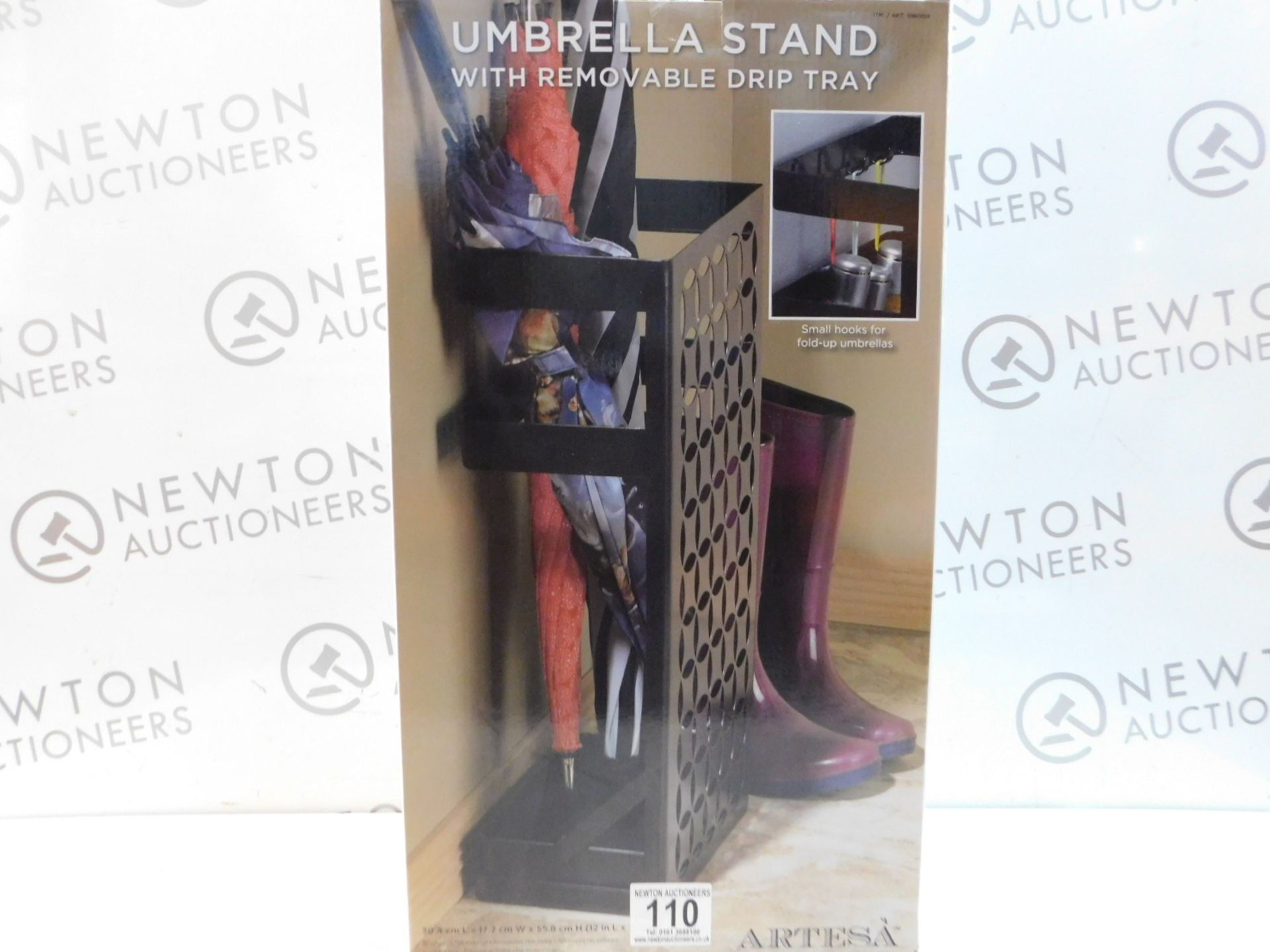Lot 110 - 1 BRAND NEW BOXED ARTESA UMBRELLA STAND WITH REMOVABLE DRIP TRAY RRP £44.99