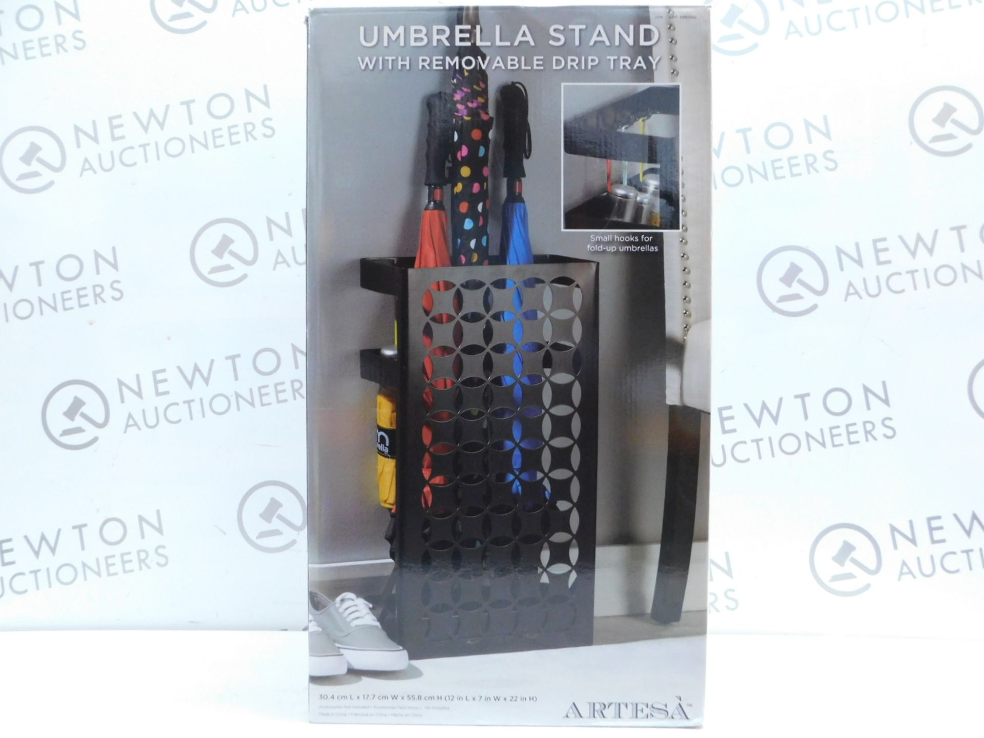 Lot 6 - 1 BRAND NEW BOXED ARTESA UMBRELLA STAND WITH REMOVABLE DRIP TRAY RRP £44.99