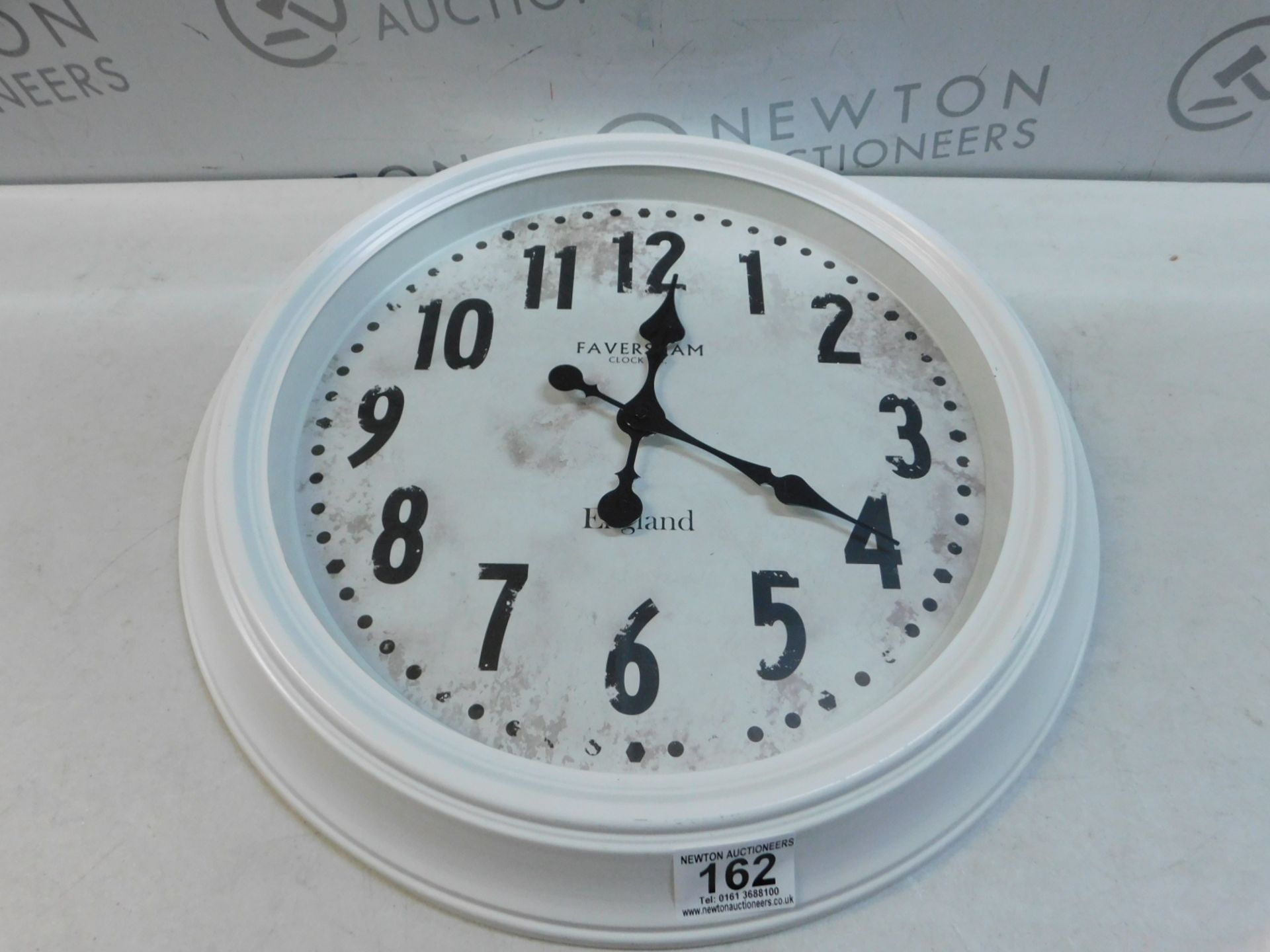 Lot 162 - 1 FAVERSHAM CLOCK CO WHITE VINTAGE WATCH/ CLOCK RRP £44.99