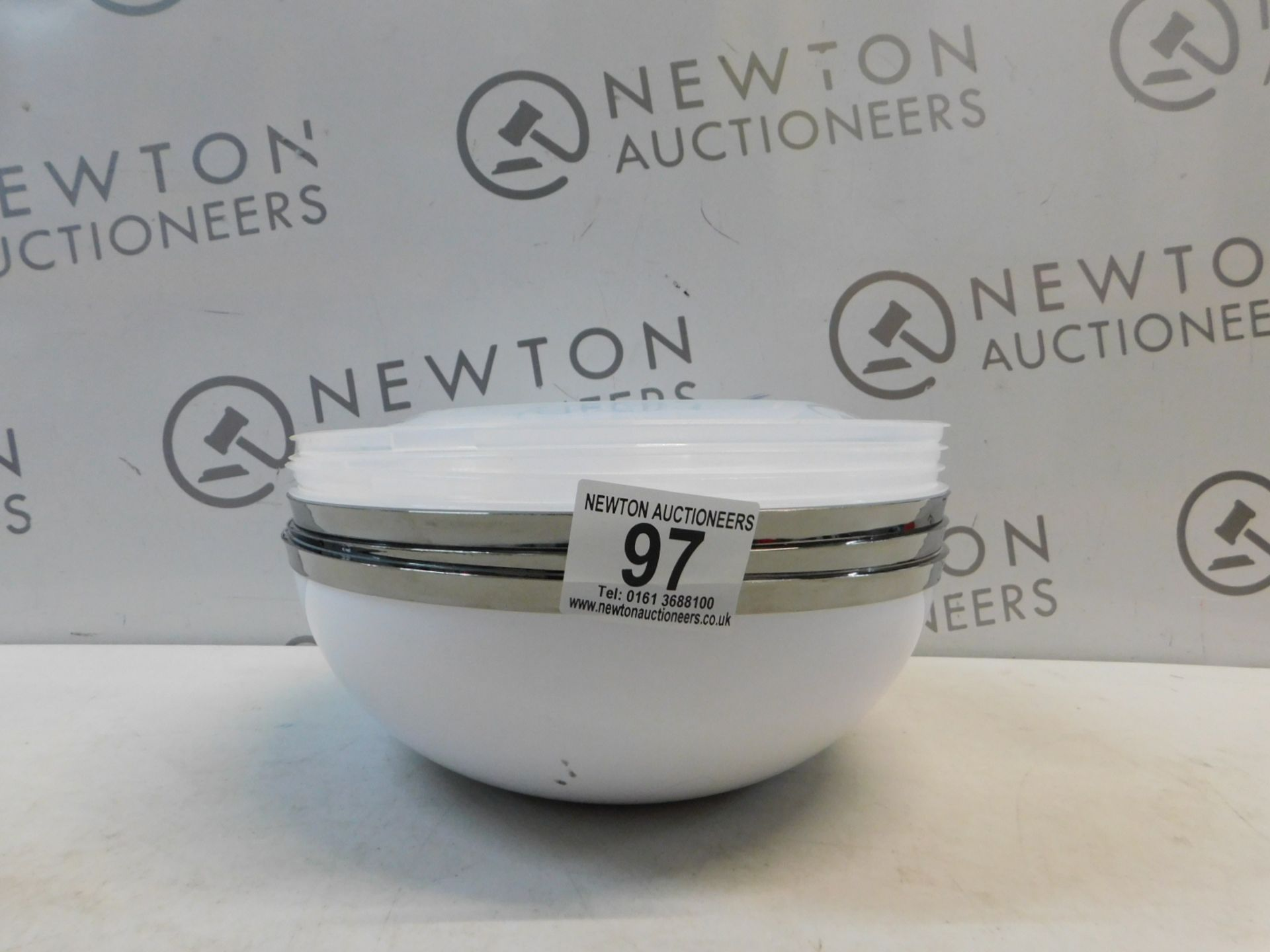 Lot 97 - 1 SET OF 3 PLASTIC SERVING BOWLS WITH SERVING SPOONS RRP £17.99
